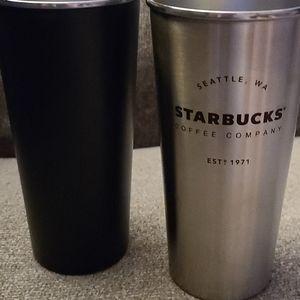 Set of 2 Starbucks Steel Cups